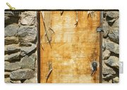 Old Wood Door And Stone - Vertical  Carry-all Pouch