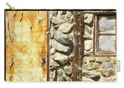 Old Wood Door Window And Stone Carry-all Pouch