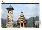 Old Wooden Church And Bell Tower Carry-all Pouch
