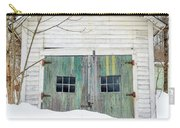 Old Wooden Garage In The Snow Woodstock Vermont Carry-all Pouch
