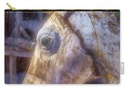 Old Wooden Horse Head Carry-all Pouch
