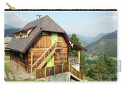 Old Wooden House On Mountain Landscape Carry-all Pouch