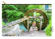 Old Wooden Water Wheel  Carry-all Pouch