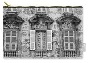 Old Yellow Building With Lace Curtain In Nice, France, Black And Carry-all Pouch