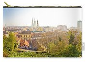 Old Zagreb Panorama In Morning Fog Carry-all Pouch