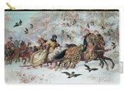 Olenka And Kmicic In A Sleigh, 1885 Carry-all Pouch