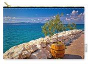 Olive Tree In Barrel By The Sea Carry-all Pouch