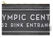 Olympic Center 1932 Rink Entrance - Monochrome Carry-all Pouch