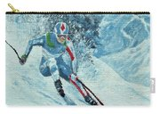 Olympic Downhill Skier Carry-all Pouch