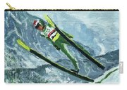 Olympic Ski Jumper Carry-all Pouch
