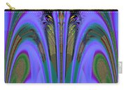 Olympic Torch And Fireworks Fractal 162 Carry-all Pouch