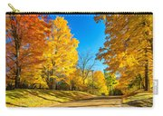 On A Country Road 6 - Paint Carry-all Pouch