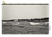 On The Beach - Avalon New Jersey In Sepia Carry-all Pouch
