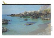 On The Capri Coast Carry-all Pouch by Paul von Spaun