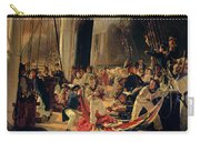 On The Deck During A Sea Battle Carry-all Pouch by Francois Auguste Biard