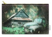 On The Edge Of The Green Mountains Painting Carry-all Pouch
