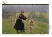 On The Plain Carry-all Pouch by Karl Fredrick Nordstrom