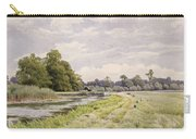 On The River Ouse Hemingford Grey Carry-all Pouch by William Fraser Garden