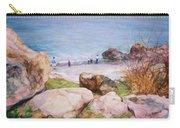 On The Shore Of The Ocean Carry-all Pouch