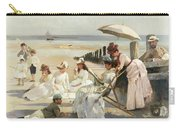On The Shores Of Bognor Regis Carry-all Pouch by Alexander M Rossi