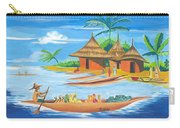 On The Shores Of Lake Kivu In Congo Carry-all Pouch