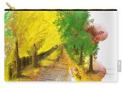 On The Yellow Road Carry-all Pouch