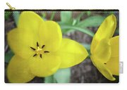 One And A Half Yellow Tulips Carry-all Pouch by Michelle Calkins