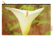 One Arum Lily Carry-all Pouch