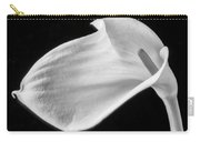One Beautiful Calla Lily In Black And White Carry-all Pouch