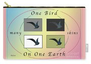 One Bird Poster And Greeting Card V1 Carry-all Pouch
