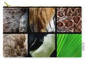One Day At The Zoo Carry-all Pouch by Michelle Calkins