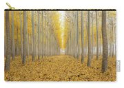 One Foggy Morning At Poplar Tree Farm In Fall Season Carry-all Pouch