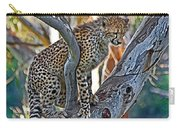 One Little Cheetah Sitting In A Tree Carry-all Pouch