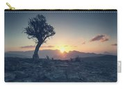 One Tree And Sunset Carry-all Pouch