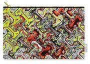 One Version Yellow And Red Abstract Carry-all Pouch