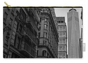 One World Trade Center New York Ny From Nassau Street Black And White Carry-all Pouch
