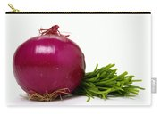 Onion And Chives Carry-all Pouch