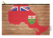 Ontario Rustic Map On Wood Carry-all Pouch