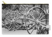 Oo Wagon Wheels Black And White Carry-all Pouch