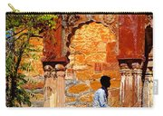 Open Air Bed Among The Arches India Rajasthan 1a Carry-all Pouch