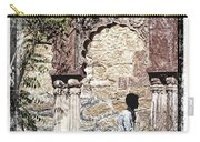 Open Air Bed Among The Arches India Rajasthan 1c Carry-all Pouch