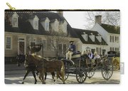 Open Carriage Ride In Colonial Williamsburg Virginia Carry-all Pouch