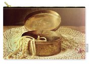 Open Jewelry Box With Pearls Carry-all Pouch