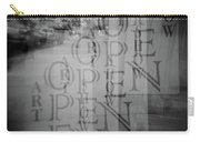 Open Sign Quadruple Multiple Exposure Holga Photography Carry-all Pouch