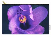 Opening Purple Hibiscus  Carry-all Pouch