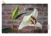 Opening White Lily Carry-all Pouch