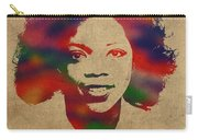 Oprah Winfrey Vintage 1978 Watercolor Portrait Carry-all Pouch