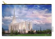 Oquirrh Mt Temple Carry-all Pouch by La Rae  Roberts