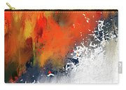Splashes At Sunset - Orange Abstract Art Carry-all Pouch