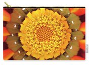Orange African Daisy Carry-all Pouch